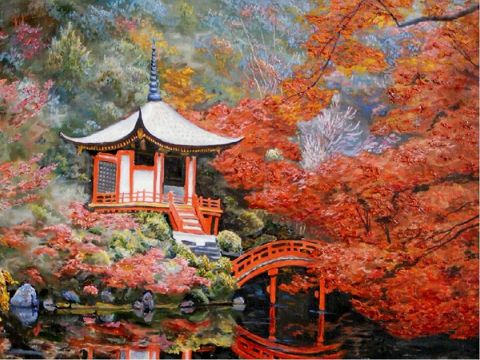 Картинки японии для презентации, ретро стильные