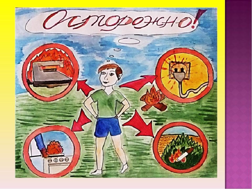 Рисунки по пожарной безопасности для школьников