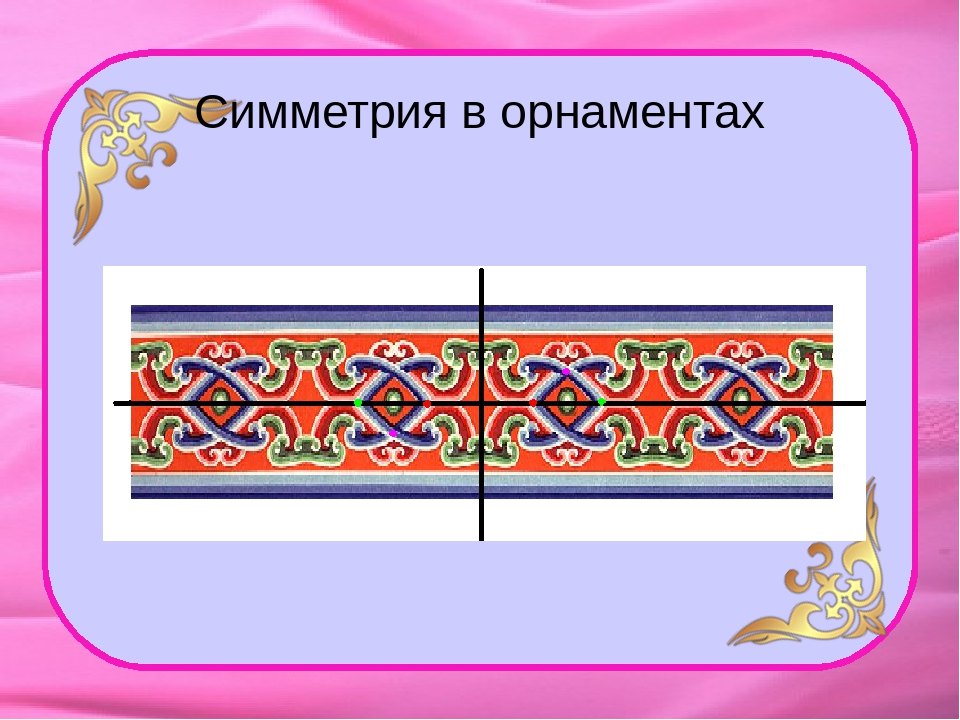 симметрия и рисунки орнаментов