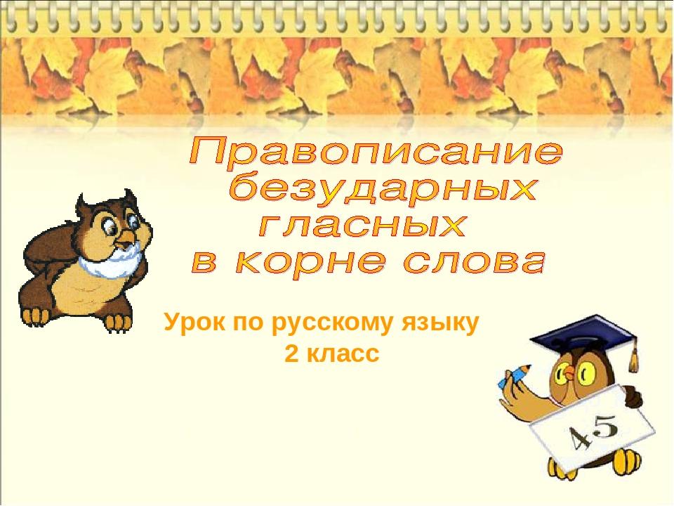Урок по русскому языку 2 класс