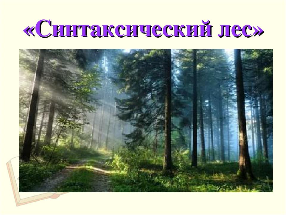 «Синтаксический лес»