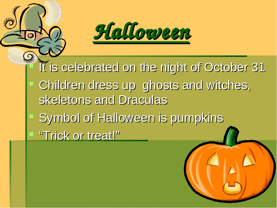 Halloween It is celebrated on the night of October 31 Children dress up ghost...