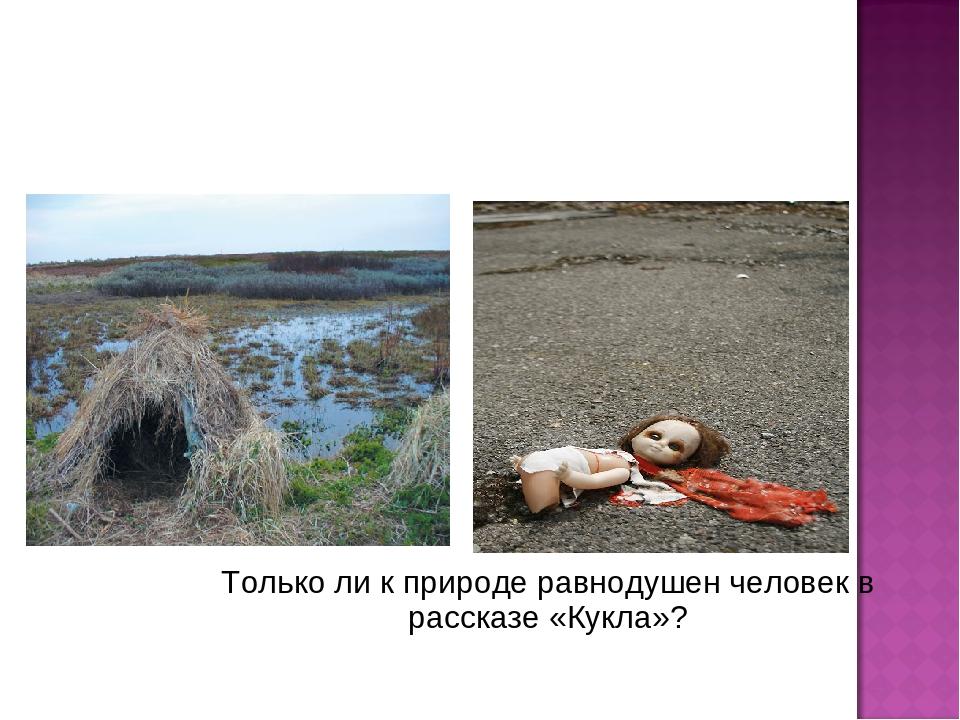 Только ли к природе равнодушен человек в рассказе «Кукла»?