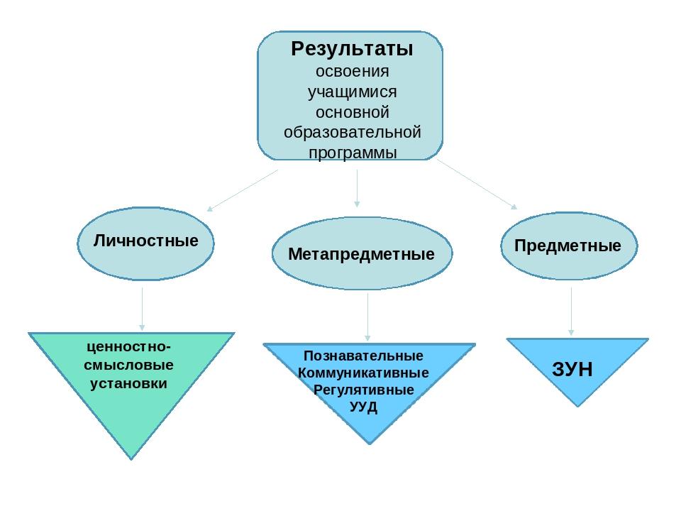 Результаты освоения учащимися основной образовательной программы Личностные М...