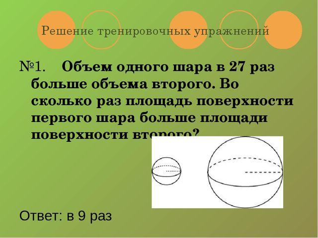 Конспект урока по теме площадь шара для 11класса