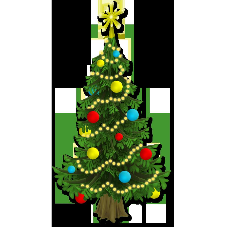 Новогодняя елка рисунок без фона