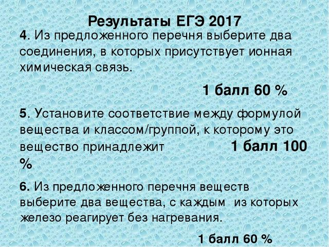 Результаты ЕГЭ 2017 4. Из предложенного перечня выберите два соединения, в ко...