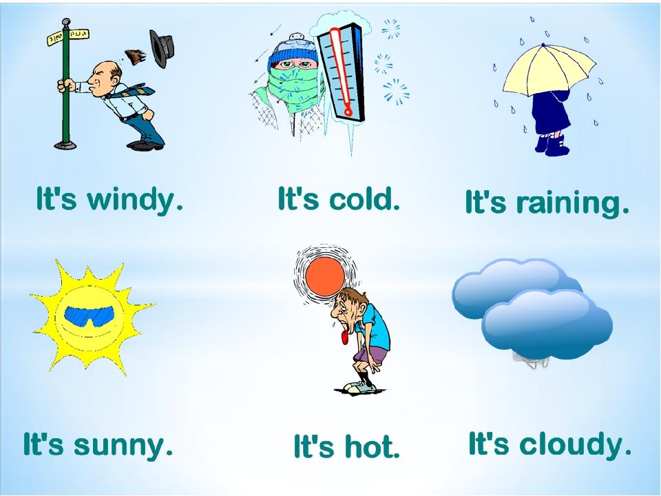 погода по английски в картинках вроде для