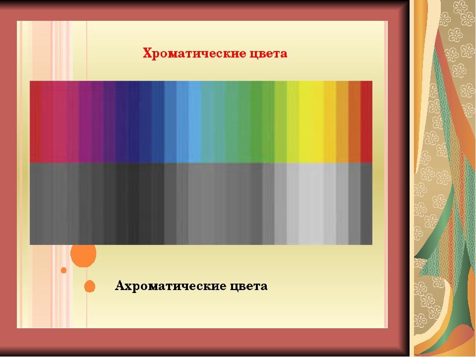 Картинка хроматическая и ахроматическая