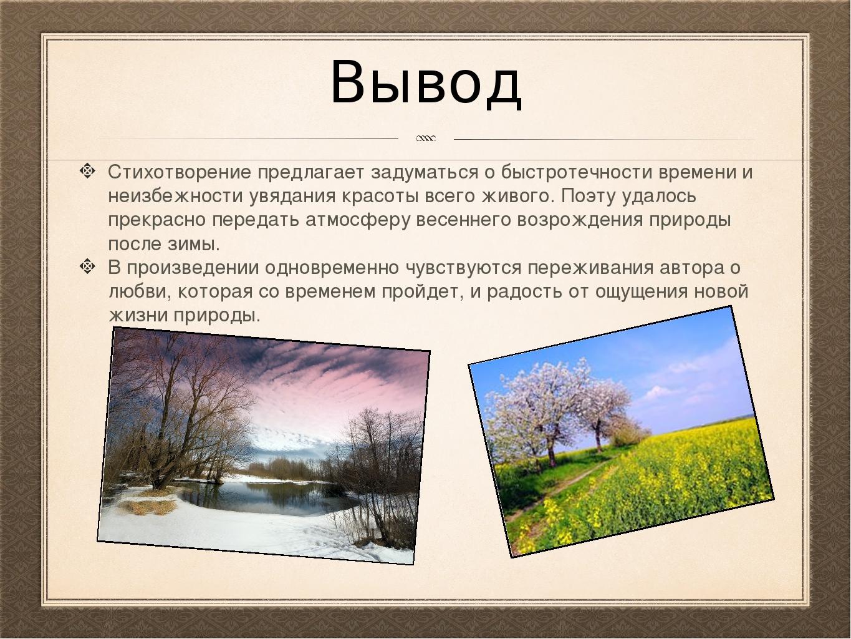 делает стихотворение весна лермонтов сборе даров