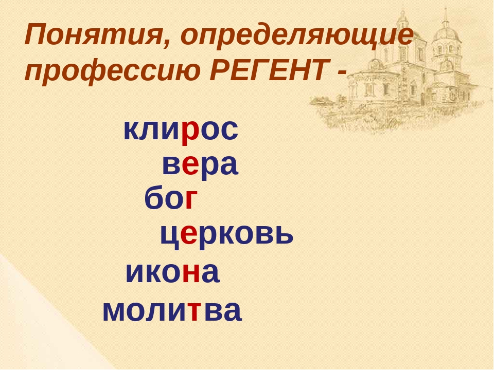 клирос вера бог церковь икона молитва Понятия, определяющие профессию РЕГЕНТ -