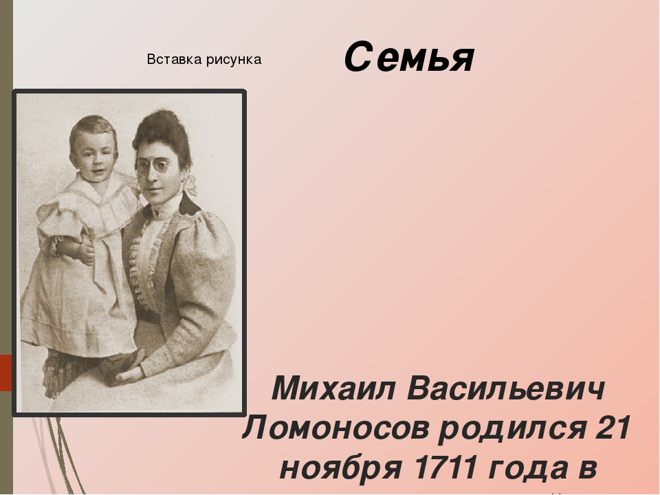 Ломоносов семья картинки