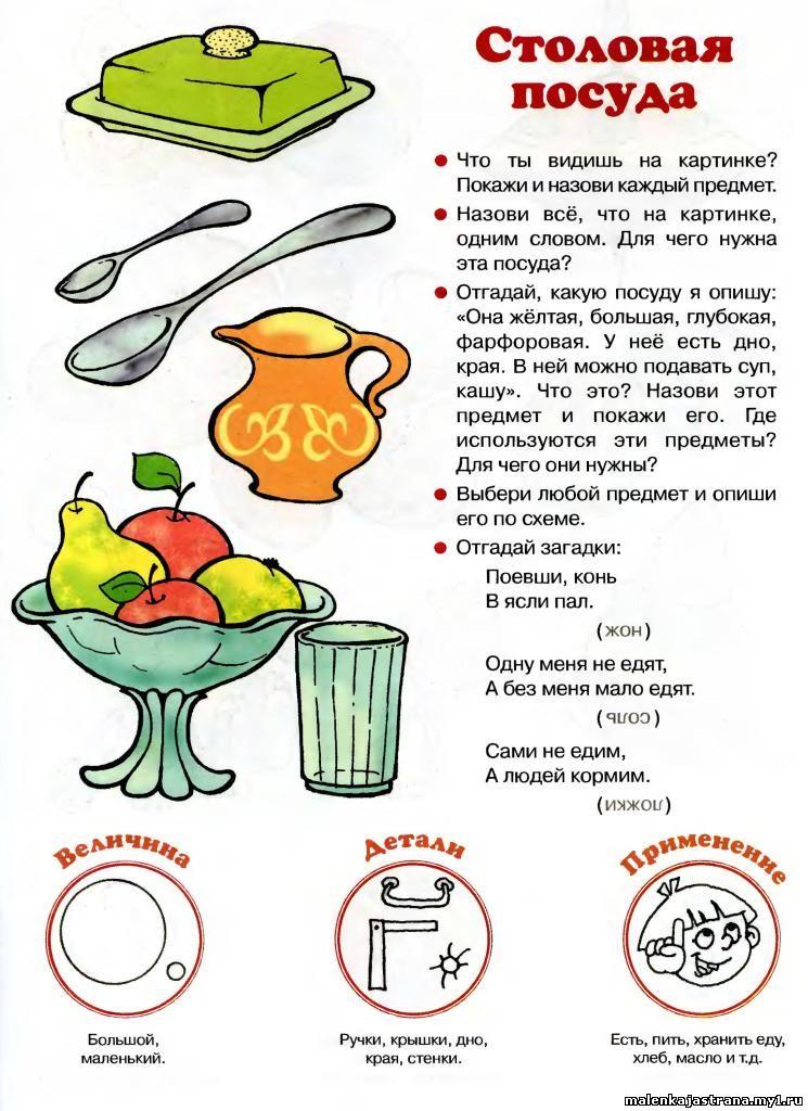 Загадки с картинками о посуде