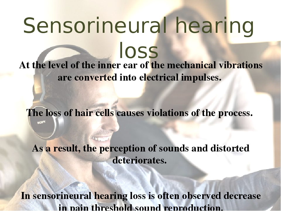 sensori neural deafness essay Introduction hearing loss affects more than 28 million americans, including more than half of those over age 75 hearing problems—including tinnitus, which is a ringing, buzzing, or other type of noise that originates in the head—are by far the most prevalent service-connected disability among american veterans.