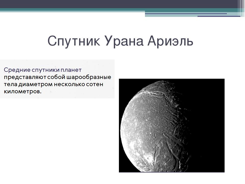 Спутник Урана Ариэль