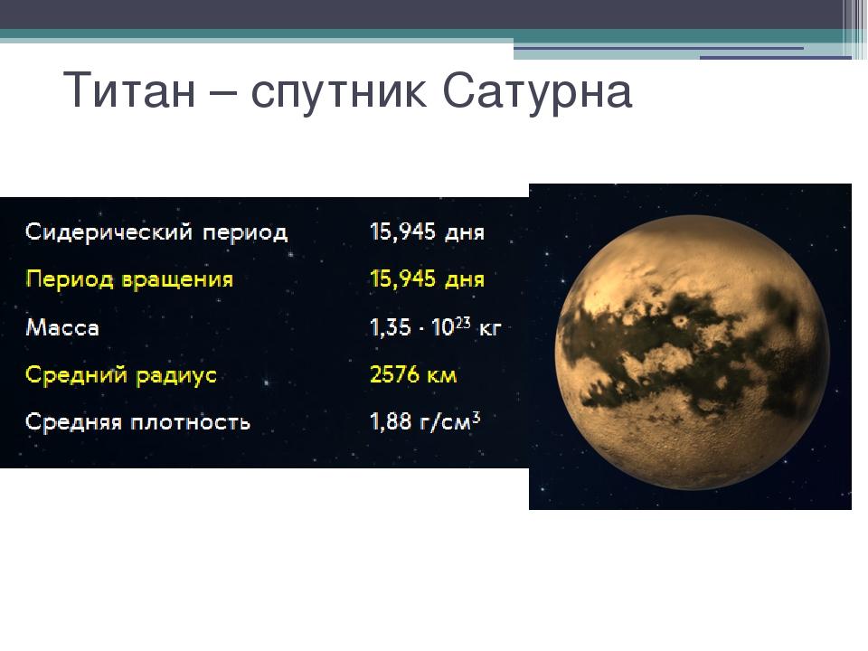 Титан – спутник Сатурна