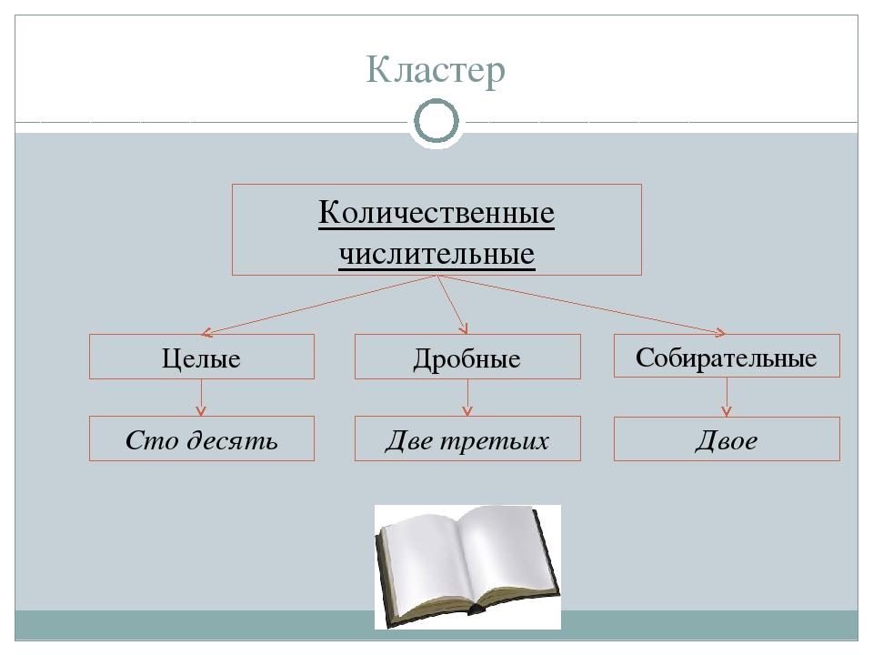 Презентация по русскому языку на тему Количественные числительные  слайда 3 Кластер Количественные числительные