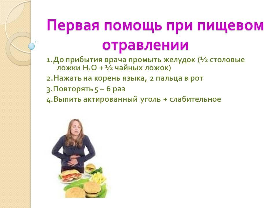 Помощь при отравлениях пищей в домашних условиях