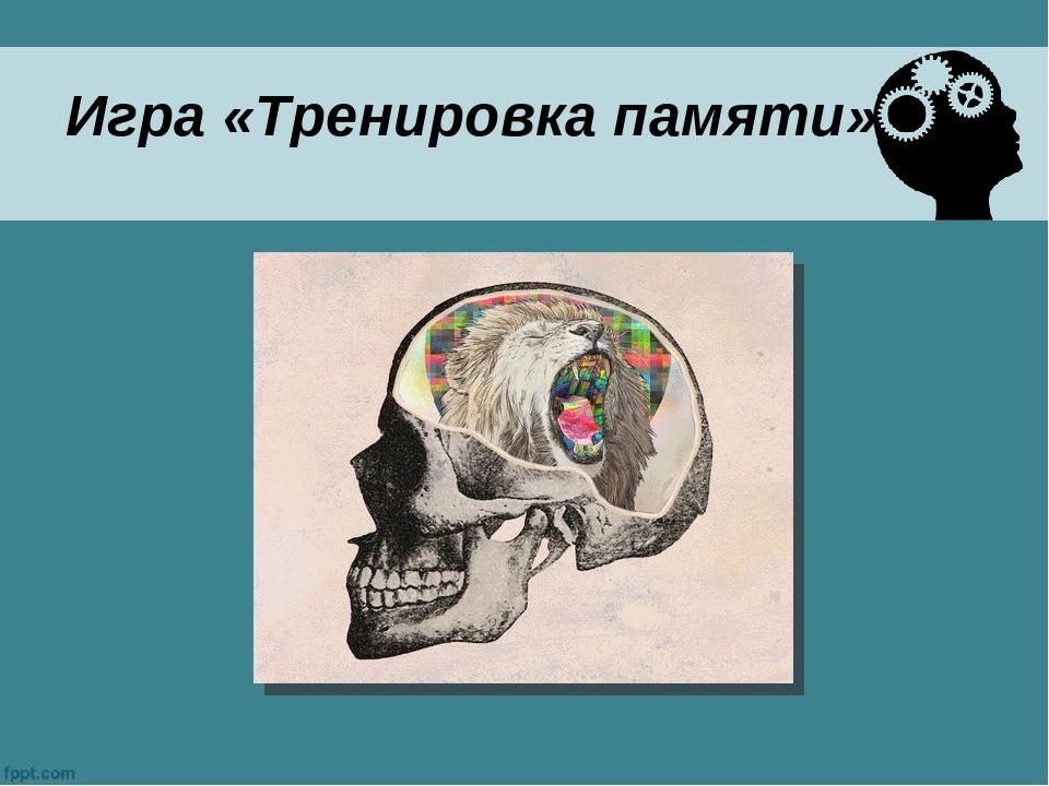 Игра «Тренировка памяти»