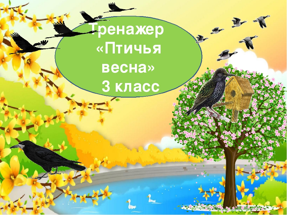 Тренажер «Птичья весна» 3 класс