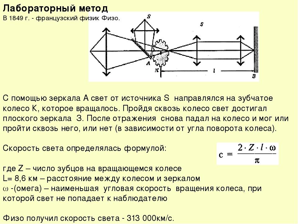 мечтают расскажите о методе физо по измерению скорости света контент садомазо видео