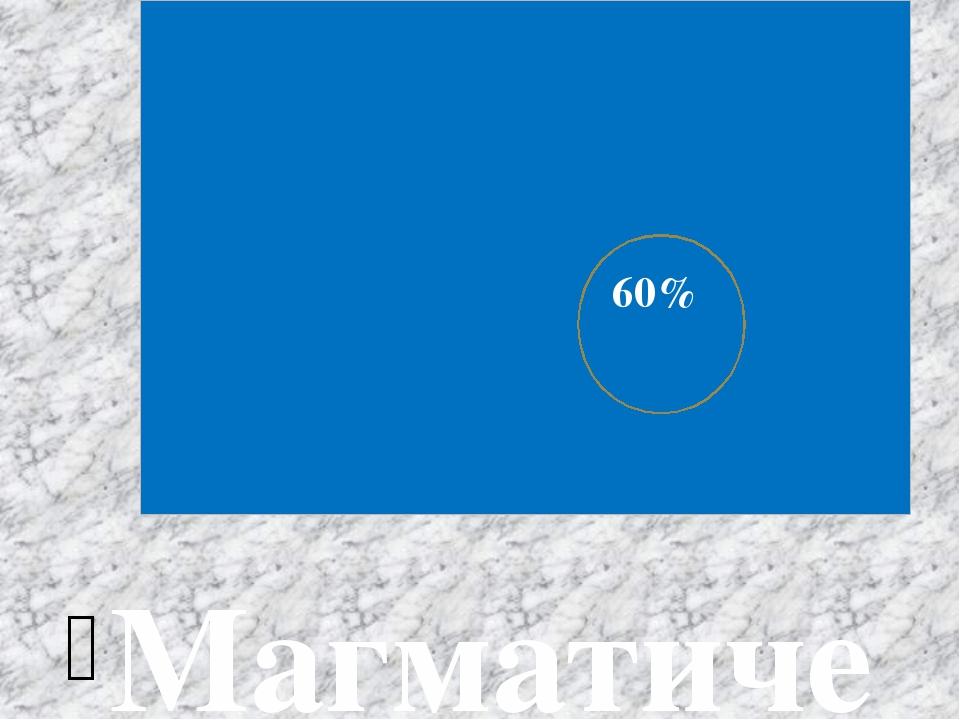 Магматические породы занимают около60%земной коры, с ними связаны месторожде...