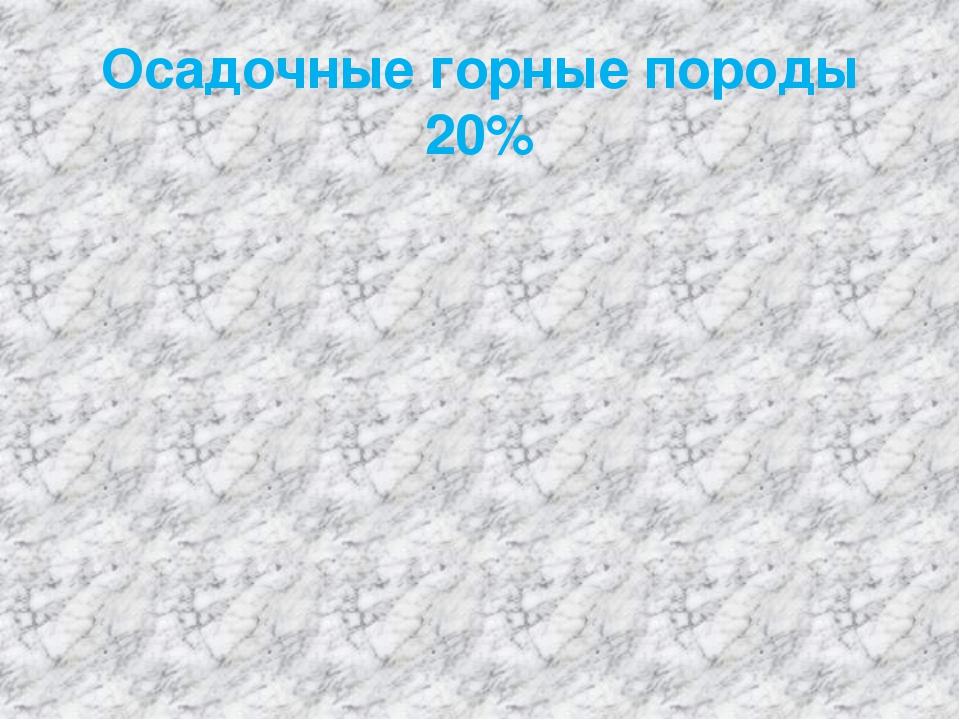 Осадочные горные породы 20%