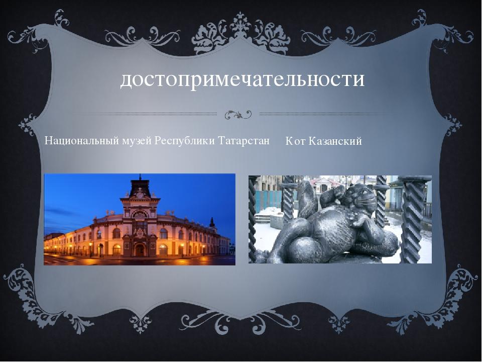 достопримечательности Национальный музей Республики Татарстан Кот Казанский