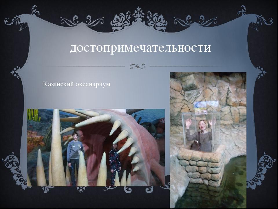 достопримечательности Казанский океанариум