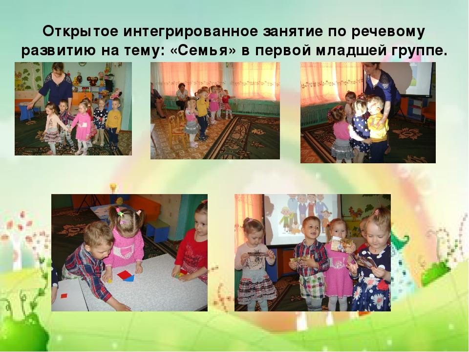 Открытое интегрированное занятие по речевому развитию на тему: «Семья» в перв...