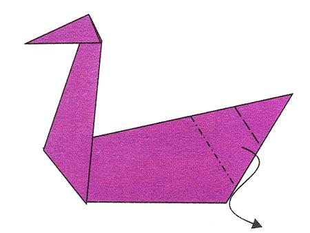 """Открытое занятие кружка. """" Изготовление гуся в технике """" оригами"""