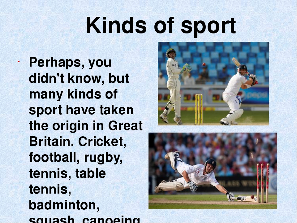 a description of sport having left our sports Organised sport can be broadly classed into two categories - individual sport versus team sport individual sports can often be more appealing to people who are new to sport thanks to the ease with which you can start to take part in them team sport or an individual sport as our primary pastime.