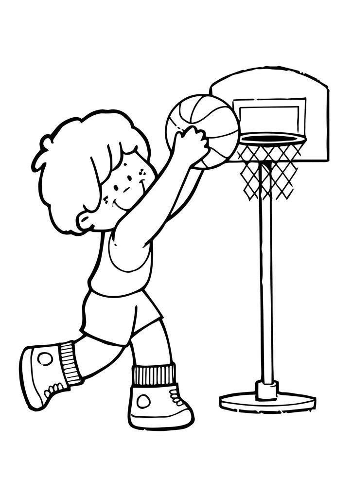 Детские спортивные картинки раскраски