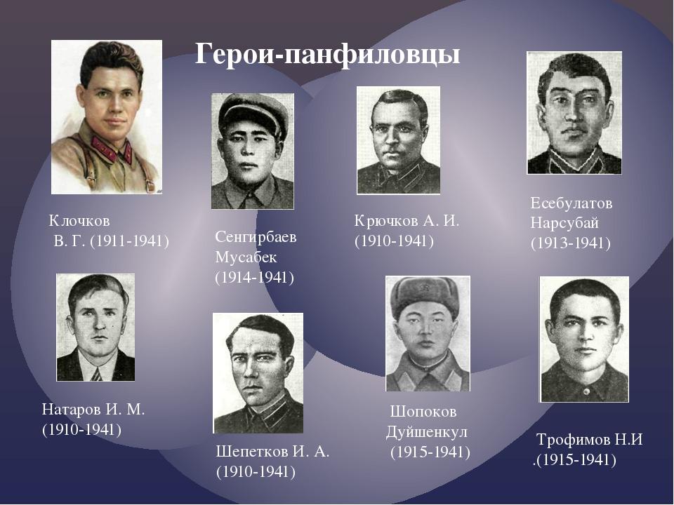 Доклад о героях панфиловцах