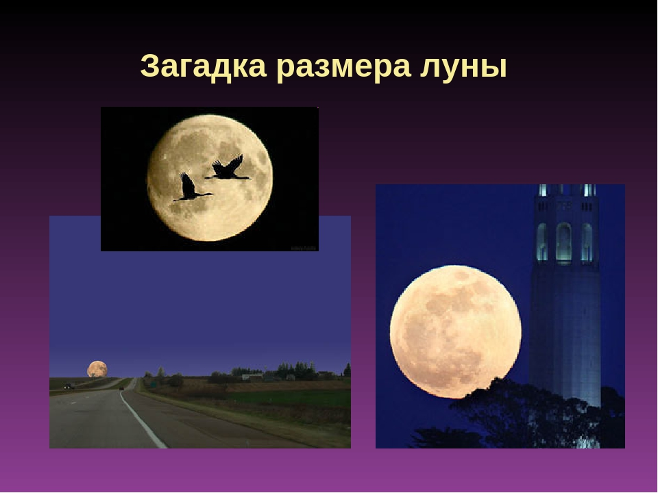 Загадка размера луны