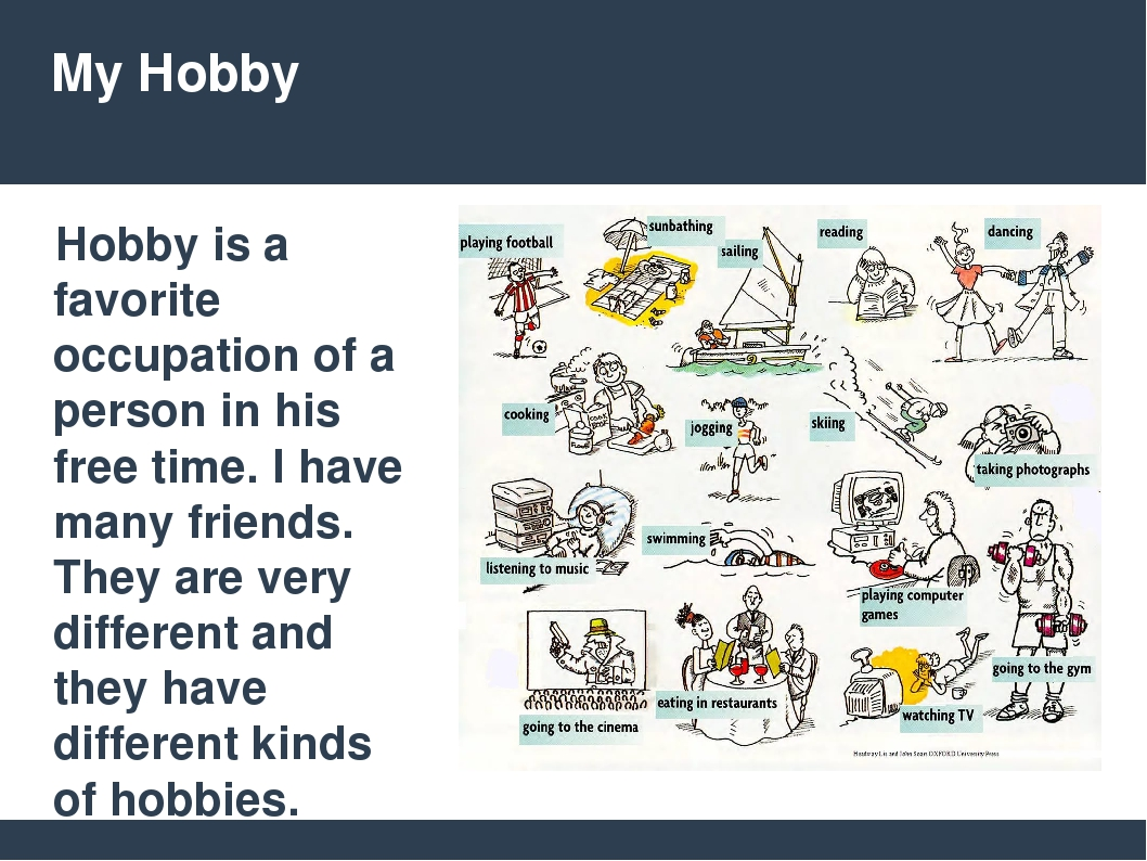 my three favorite hobbies This is a partial list of hobbies a hobby is an activity, interest, enthusiasm, or pastime that is undertaken for pleasure or relaxation, done during one's own time.