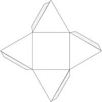 Пирамида из картона схема