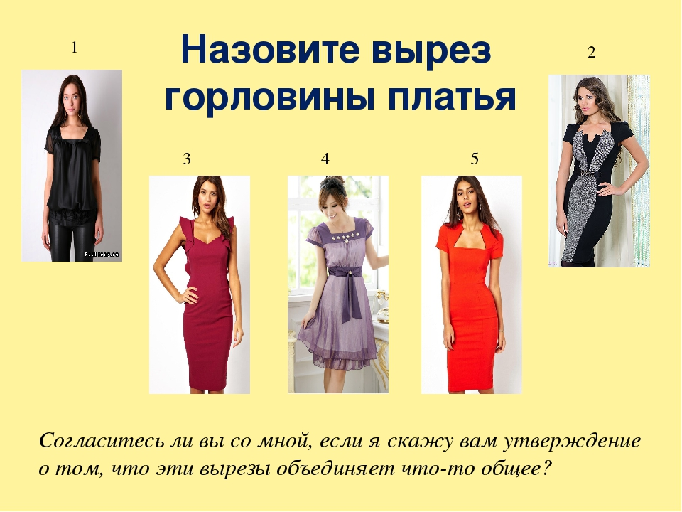 Платье виды