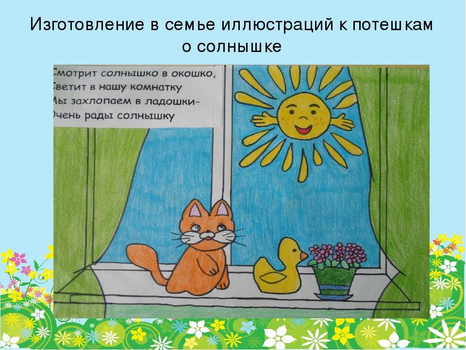 потешки о солнышке в картинках смеется