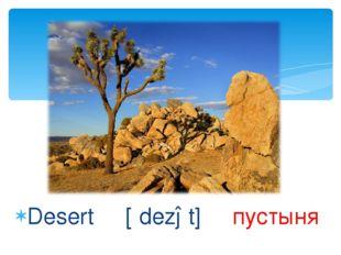 Desert [ʹdezət] пустыня