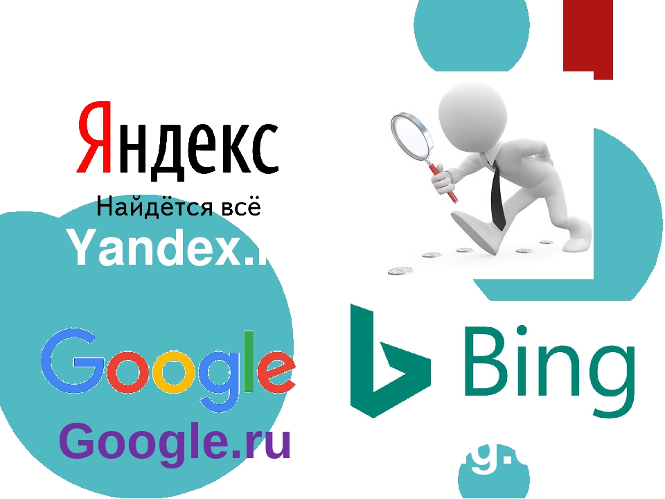 Поисковые системы Yandex.ru Bing.com Google.ru