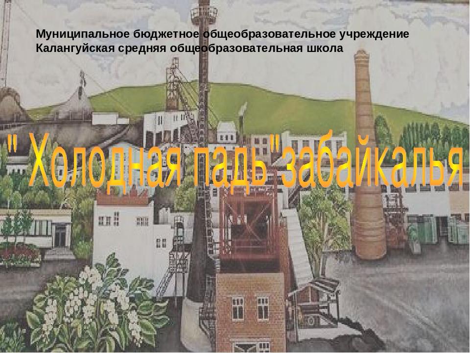 Муниципальное бюджетное общеобразовательное учреждение Калангуйская средняя о...