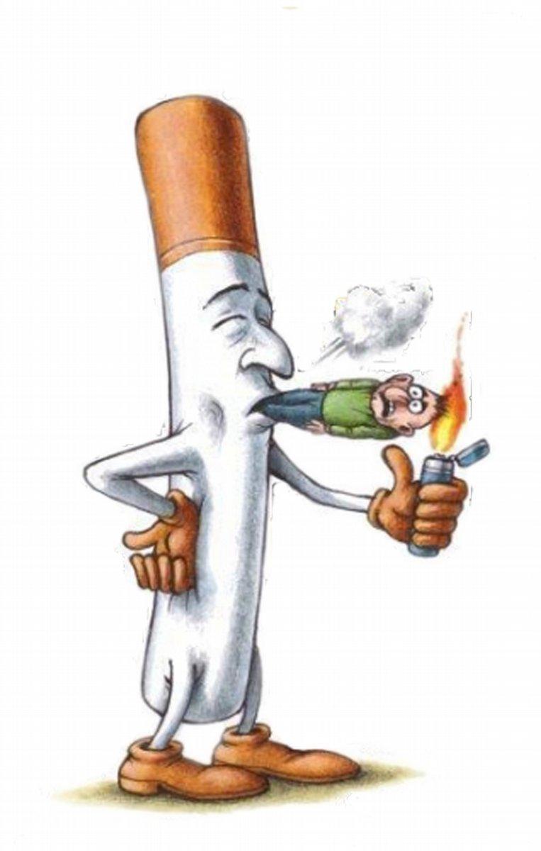 Открытка, прикольные картинки на тему курение