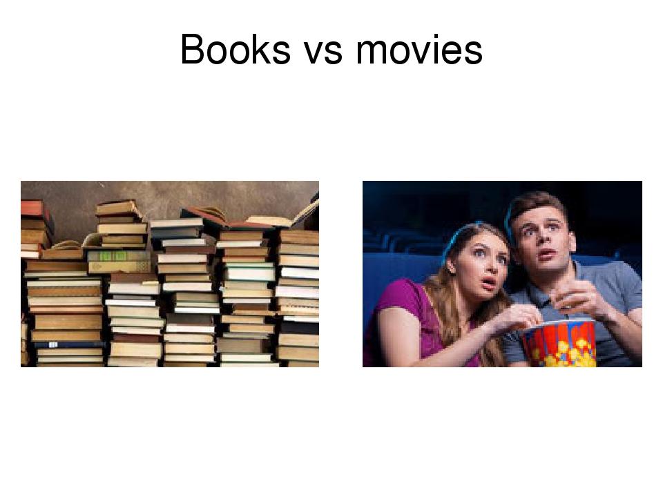 books vs movies One surefire activity to get students involved in a story is comparing the book to the made into movies grab these book vs apart movies and books by.