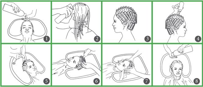 говорить, технология мытья головы в картинках внешних