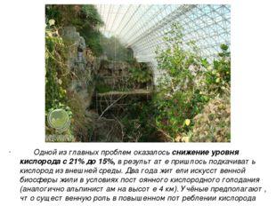 Одной из главных проблем оказалось снижение уровня кислорода с 21% до 15%, в