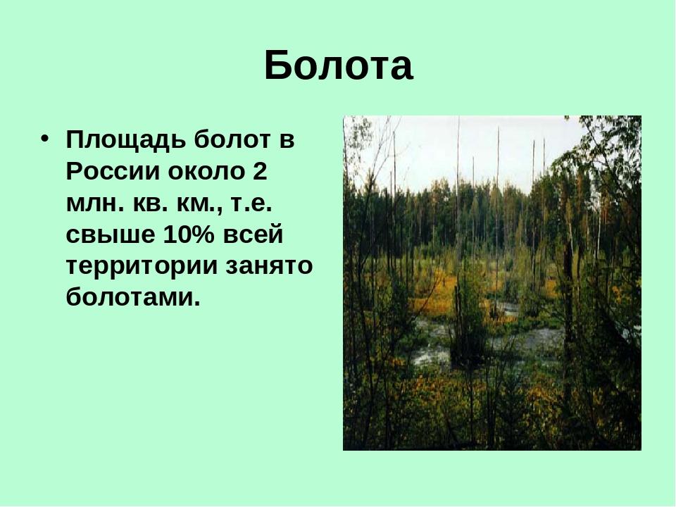 болота россии сообщение кошки