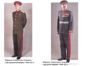 Маршал Советского Союза в повседневной форме 1943-45 гг. Маршал Советского Со