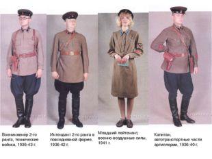 Военинженер 2-го ранга, технические войска, 1936-43 г. Интендант 2-го ранга в