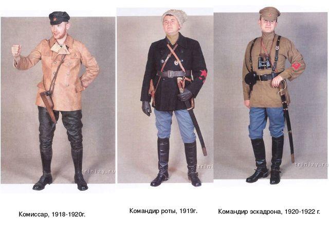Комиссар, 1918-1920г. Командир роты, 1919г. Командир эскадрона, 1920-1922 г.